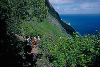 Mule ride to Kalaupapa settlement, Molokai