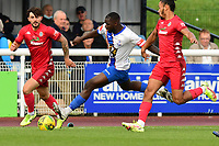 Percy Kiangebeni of Enfield Town during Enfield Town vs Worthing, Pitching In Isthmian League Premier Division Football at the Queen Elizabeth II Stadium on 16th October 2021