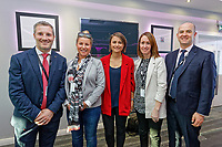 Pictured: Michelle Owen (C). Thursday 27 September 2018<br /> Re: Swansea City AFC Business Networking event at the Liberty Stadium, Wales, UK.