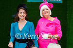 Enjoying the Ladies Day at the Listowel Races on Friday, l to r: Barbara Gleeson and Mary O'Halloran.
