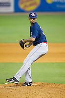 Oklahoma City RedHawks relief pitcher Richard Rodriguez (31) in action against the Nashville Sounds at Greer Stadium on July 25, 2014 in Nashville, Tennessee.  The Sounds defeated the RedHawks 2-0.  (Brian Westerholt/Four Seam Images)