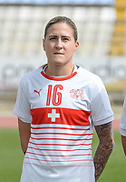 20180305 - LARNACA , CYPRUS : Swiss Melanie Muller pictured during a women's soccer game between Switzerland and Wales , on monday 5 March 2018 at GSZ Stadium in Larnaca , Cyprus . This is the third game in group A for Switzerland and Wales during the Cyprus Womens Cup , a prestigious women soccer tournament as a preparation on the World Cup 2019 qualification duels. PHOTO SPORTPIX.BE | DAVID CATRY