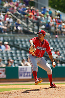 Lakewood BlueClaws pitcher JoJo Romero (6) on the mound during a game against the Charleston RiverDogs on May 3, 2017 at Joseph P. Riley Ballpark in Charleston, South Carolina. Lakewood defeated Charleston 10-6. (Robert Gurganus/Four Seam Images)