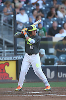 Nicholas Quintana (12) of the West team bats during the 2015 Perfect Game All-American Classic at Petco Park on August 16, 2015 in San Diego, California. The East squad defeated the West, 3-1. (Larry Goren/Four Seam Images)