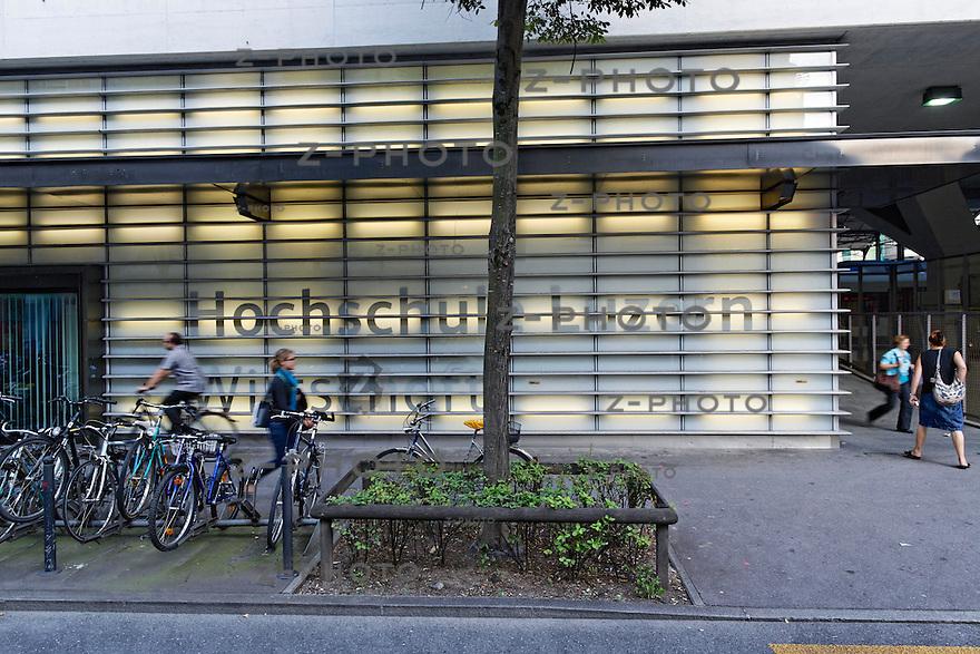 Aussenaufnahme der HSLU /Hochschule fuer Wirtschaft HSLU in Luzern am 10. September 2012<br /> <br /> Copyright © Zvonimir Pisonic