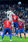 Real Madrid Sergio Ramos and FC Viktoria Plzen Radim Reznik during UEFA Champions League match between Real Madrid and FC Viktoria Plzen at Santiago Bernabeu Stadium in Madrid, Spain. October 23, 2018. (ALTERPHOTOS/Borja B.Hojas)
