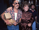 Dustin Hoffman with his hairdresser on the set filming TOOTSIE on June 9, 1982 in New York City.