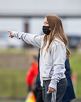Meagan Johnson head girl's soccer coach for Rogers Heritage at David Gates Stadium, Rogers, Ark., on Tuesday,, March 30, 2021  / Special to NWA Democrat-Gazette/ David Beach
