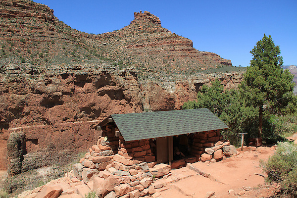 Three mile rest area along the Bright Angel Trail overlooking Indian Gardens, Grand Canyon National Park, Arizona . John offers private photo tours in Grand Canyon National Park and throughout Arizona, Utah and Colorado. Year-round.