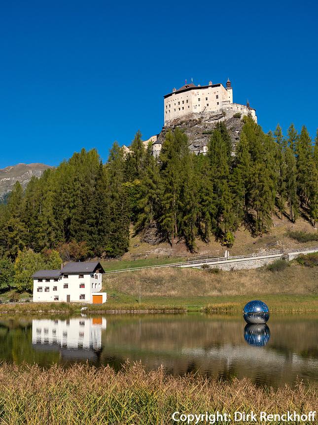 Schloss von Tarasp, Scuol, Unterengadin, Graubünden, Schweiz, Europa<br /> Castle Tarasp, Scuol, Engadine, Grisons, Switzerland