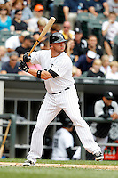 Chicago White Sox Tyler Flowers #17 during a game against the Kansas City Royals at U.S. Cellular Field on August 14, 2011 in Chicago, Illinois.  Chicago defeated Kansas City 6-2.  (Mike Janes/Four Seam Images)