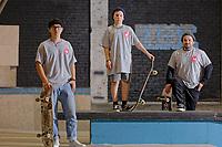 People taking part in the Urban Skatboarding Group, at Exist Skatepark in Swansea, Wales, UK. Thursday 27 September 2018