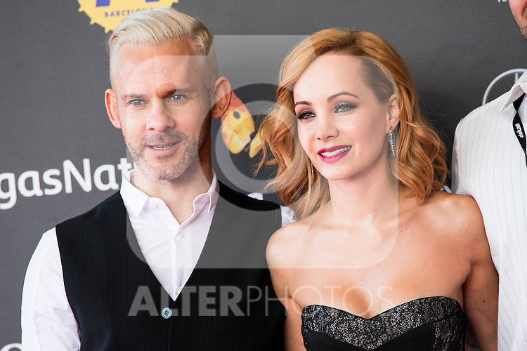 """British actor Dominic Monaghan and canadian actress Ksenia Solo attends to the red carpet of the presentation during the presentation of the film  """"Pet"""" at Festival de Cine Fantastico de Sitges in Barcelona. October 11, Spain. 2016. (ALTERPHOTOS/BorjaB.Hojas)"""