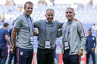 Lyon, France - Saturday June 09, 2018: John Hackworth, Dave Sarachan, Richie Williams during an international friendly match between the men's national teams of the United States (USA) and France (FRA) at Groupama Stadium.