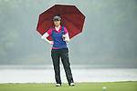 Liu Yu of China plays at the 18th hole during Round 4 of the World Ladies Championship 2016 on 13 March 2016 at Mission Hills Olazabal Golf Course in Dongguan, China. Photo by Victor Fraile / Power Sport Images
