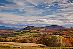 Fall foliage in Peacham, Northeast Kingdom, VT, USA