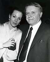 Rod Steiger & Paula Ellis 1986, Photo By John Barrett/PHOTOlink