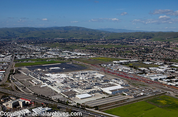 aerial photograph Tesla Factory, Fremont, Alameda County, California