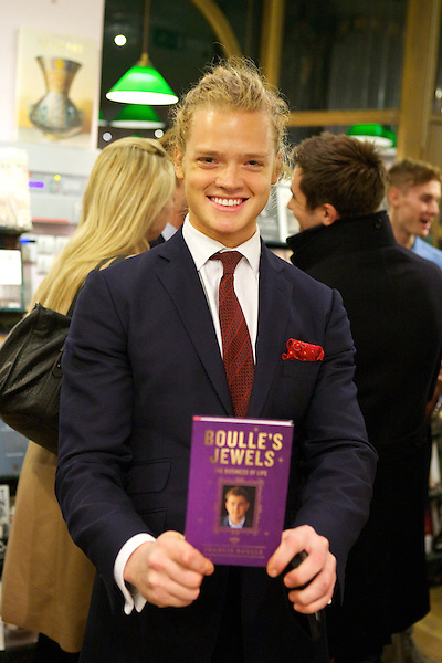 Frederik Ferrier poses with Francis Boulle's book Boulle's Jewels at the book launch party