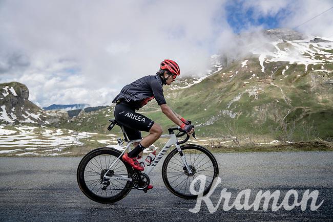 Winner Anaconda (COL/Arkéa Samsic) up the Cormet de Roselend (2cat/1968m/5.7km@6.5%)<br /> <br /> 73rd Critérium du Dauphiné 2021 (2.UWT)<br /> Stage 7 from Saint-Martin-le-Vinoux to La Plagne (171km)<br /> <br /> ©kramon