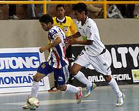 MANIZALES-COLOMBIA-10-03-2013. Partido de la segunda fecha de la Liga Argos Futsal I-2013./ Game of the second date of Argos Futsal League I-2013. Photo: VizzorImage / JJ Bonilla / CONT
