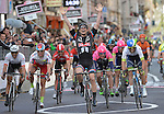 John Degenkolb (GER) Team Giant-Alpecin wins the 106th edition of the Milan-San Remo 2015 cycle race, Milan, Italy. 22nd March 2015. <br /> Photo: ANSA/Luca Zennaro/www.newsfile.ie