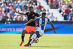 Darwin Machis (R) of Club Deportivo Leganes fights for the ball with Montoya of Valencia CF during their La Liga match between Club Deportivo Leganes and Valencia CF at the Butarque Municipal Stadium on 25 September 2016 in Madrid, Spain. Photo by Diego Gonzalez Souto / Power Sport Images