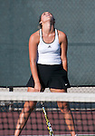 El Dorado tennis player can't believe she missed the shot.