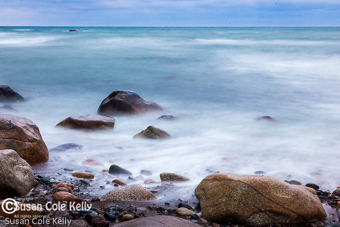 Ocean waves at Cedar Point in Scituate, Massachusetts, USA
