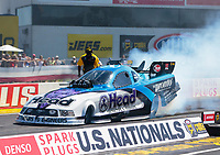 Sep 5, 2020; Clermont, Indiana, United States; NHRA funny car driver Blake Alexander during qualifying for the US Nationals at Lucas Oil Raceway. Mandatory Credit: Mark J. Rebilas-USA TODAY Sports