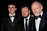 LOS ANGELES, USA. September 23, 2019: Isaac Hempstead Wright, John Bradley & Liam Cunningham at the HBO post-Emmy Party at the Pacific Design Centre.<br /> Picture: Paul Smith/Featureflash