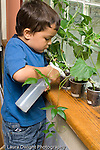 New York City preschool ages 3-5 nature science watering plants