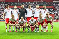 8th September 2021; PGE National Stadium, Warsaw, Poland: FIFA World Cup 2022 Football qualification, Poland versus England;  Poaland team line-up