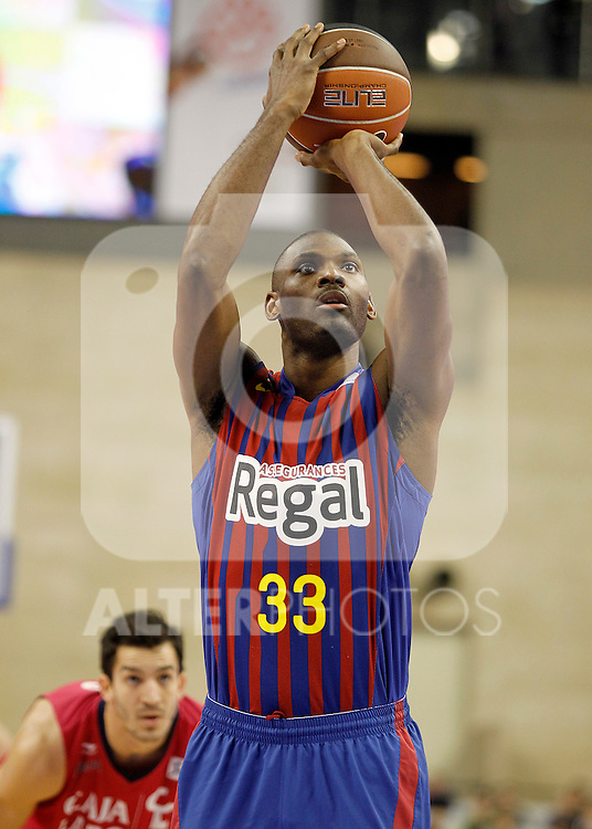 FC Barcelona Regal's Pete Mickeal during Spanish Basketball King's Cup Semifinal match.February 18,2012. (ALTERPHOTOS/ALFAQUI/Acero)