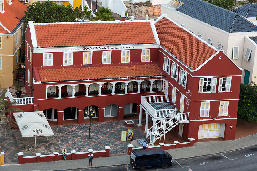Willemstad, Curacao, Lesser Antilles.  Gouverneur de Rouville Restaurant, Bar, and Cafe.