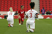 13th April 2021; Bet365 Stadium, Stoke, England; Demi Stokes of England during the womens International Friendly match between England and Canada