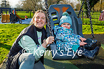 Little Alex Locke with his mom Heather O'Rourke enjoying the swings in the Tralee town park on Saturday.