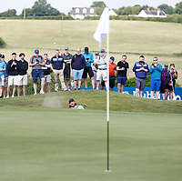 2nd July 2021; Mount Juliet Golf Club, Kilkenny, Ireland; Dubai Duty Free Irish Open Golf, Day Two; Tommy Fleetwood plays out of the 15th green side bunker