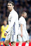 Real Madrid's Cristiano Ronaldo (l) and Karim Benzema during La Liga match. March 1,2017. (ALTERPHOTOS/Acero)