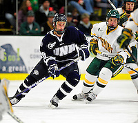 6 December 2009: University of New Hampshire Wildcats' forward Mike Sislo, a Junior from Superior, WI, in action against the University of Vermont Catamounts at Gutterson Fieldhouse in Burlington, Vermont. The Wildcats defeated the Catamounts 5-2 in the Hockey East matchup. Mandatory Credit: Ed Wolfstein Photo