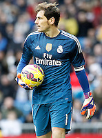 Real Madrid's Iker Casillas during La Liga match.January 31,2015. (ALTERPHOTOS/Acero) /NortePhoto<br /> /NortePhoto.com
