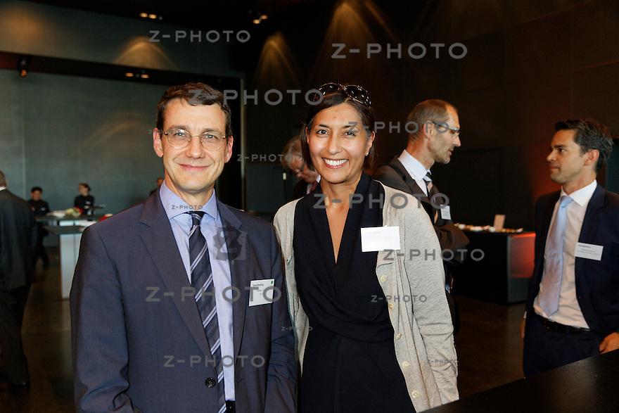 v.l.n.r. Stefano Coduri; BSI SA, Christina-Anne Kyosti; Capgemini Consulting am Bankiertag vom 16. September 2014 im KKL<br /> Luzern<br /> <br /> Copyright © Zvonimir Pisonic