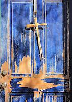 Blue Door with Yucca Cross - Arizona