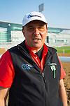 DUBAI,UNITED ARAB EMIRATES-MARCH 29: Antonio Sano,trains Gunnevera (Dubai World Cup), at Meydan Racecourse on March 29,2018 in Dubai,United Arab Emirates (Photo by Kaz Ishida/Eclipse Sportswire/Getty Images)
