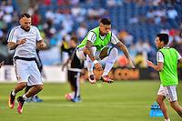 Foxborough, MA - Saturday June 18, 2016: Argentina  prior to a Copa America Centenario quarterfinal match between Argentina (ARG) and Venezuela (VEN)  at Gillette Stadium.