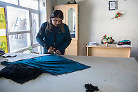 Headquarters of Afghan Action in Kabul, Afghanistan 2-1-13 The British based NGO teaches a number of employment and life skills to young Afghan men and women including carpet weaving, sewing, garment making, computing and English language lessons.