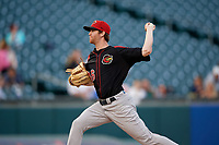 Rochester Red Wings pitcher Charlie Barnes (46) during an International League game against the Buffalo Bisons on August 26, 2019 at Sahlen Field in Buffalo, New York.  Buffalo defeated Rochester 5-4.  (Mike Janes/Four Seam Images)