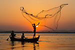 Fishermen, Irrawaddy River, Myanmar