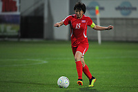 20190301 - LARNACA , CYPRUS : North Korean defender Kim Nam-hui pictured during a women's soccer game between South Africa and Korea DPR , on Friday 1 March 2019 at the AEK Arena in Larnaca , Cyprus . This is the second game in group A for Both teams during the Cyprus Womens Cup 2019 , a prestigious women soccer tournament as a preparation on the Uefa Women's Euro 2021 qualification duels. PHOTO SPORTPIX.BE   STIJN AUDOOREN
