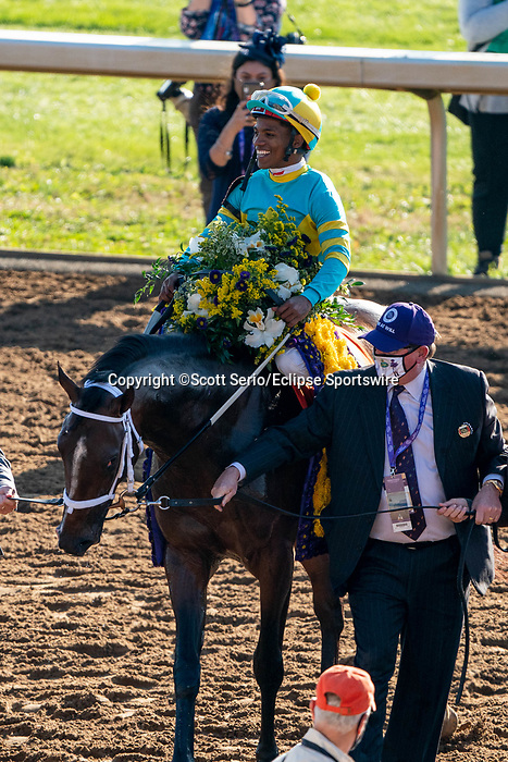 November 6, 2020: Fire at Will, ridden by Ricardo Santana, Jr., wins the Juvenile Turf Presented By Coolmore America on Breeders' Cup Championship Friday at Keeneland on November 6, 2020: in Lexington, Kentucky. Scott Serio/Eclipse Sportswire/Breeders Cup/CSM